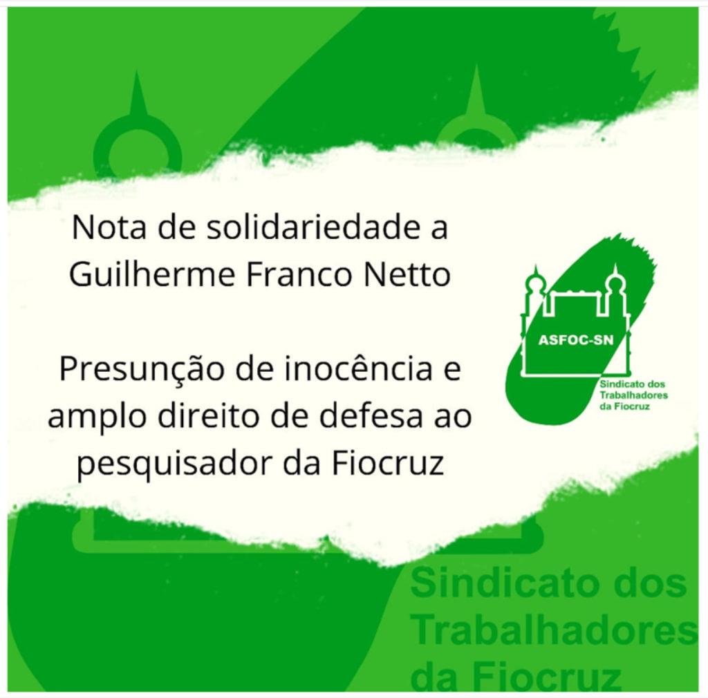 Nota de solidariedade a Guilherme Franco Netto